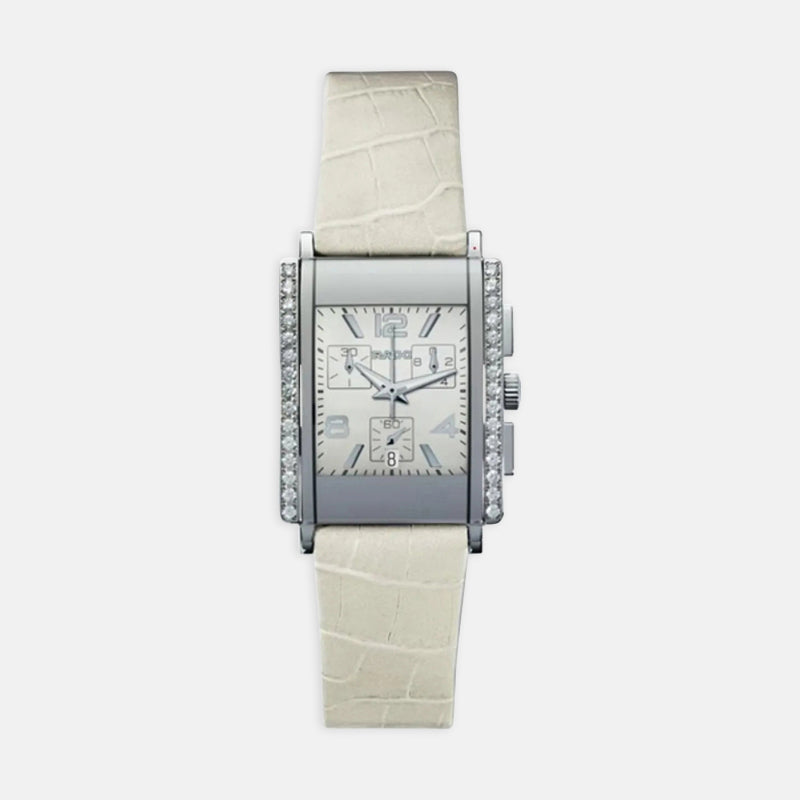 Ladies Rado Integral<br> White Dial<br> White Leather Strap