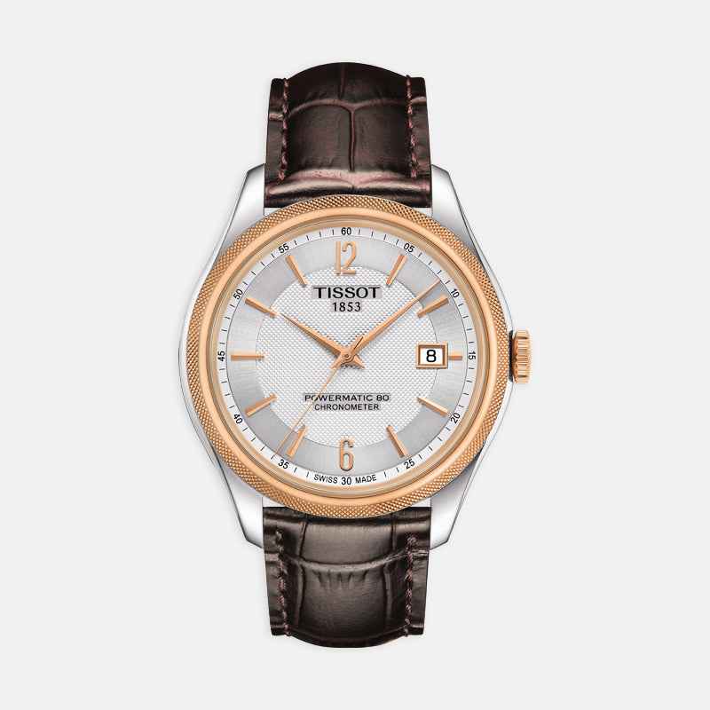 Tissot Ballade Powermatic 80 Cosc<br> 41mm Silver Dial<br> Brown Leather Strap
