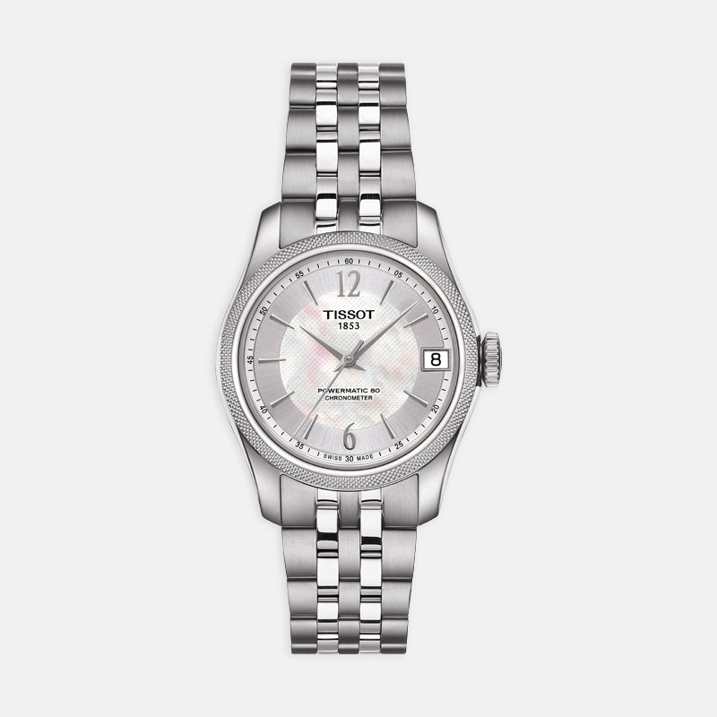 Tissot Ballade Powermatic 80 Cosc Lady<br> 32mm White Moter of Pearl Dial <br> Stainless Steel Bracelet