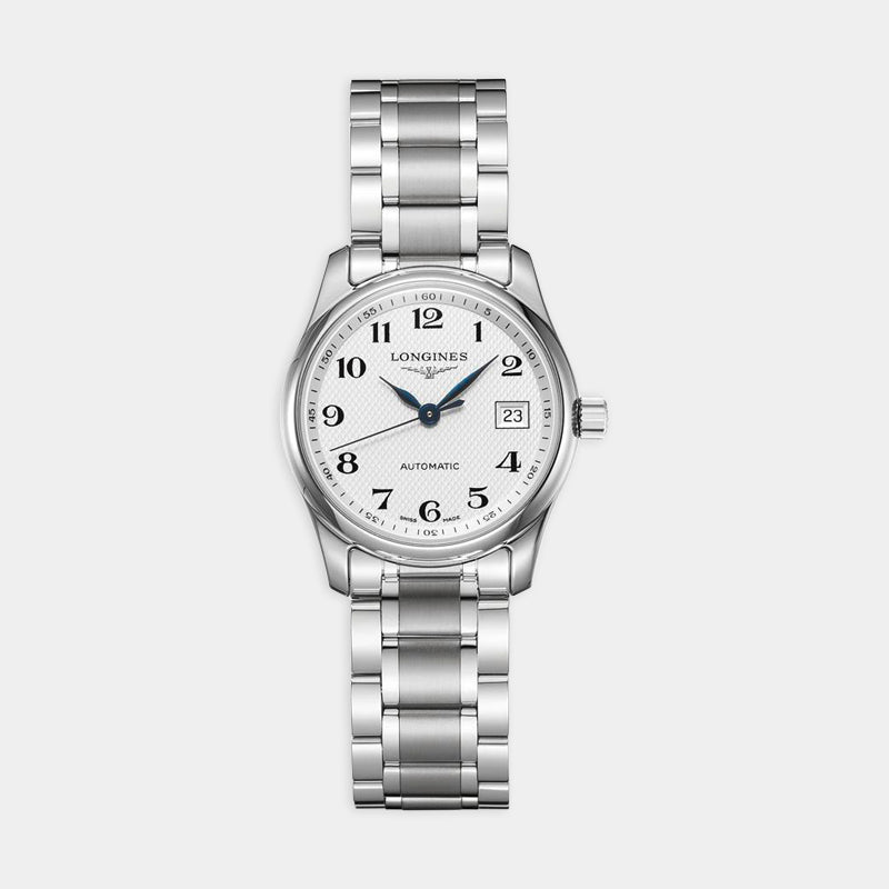 Longines Master<br> 29mm White Dial <br> Stainless Steel Bracelet
