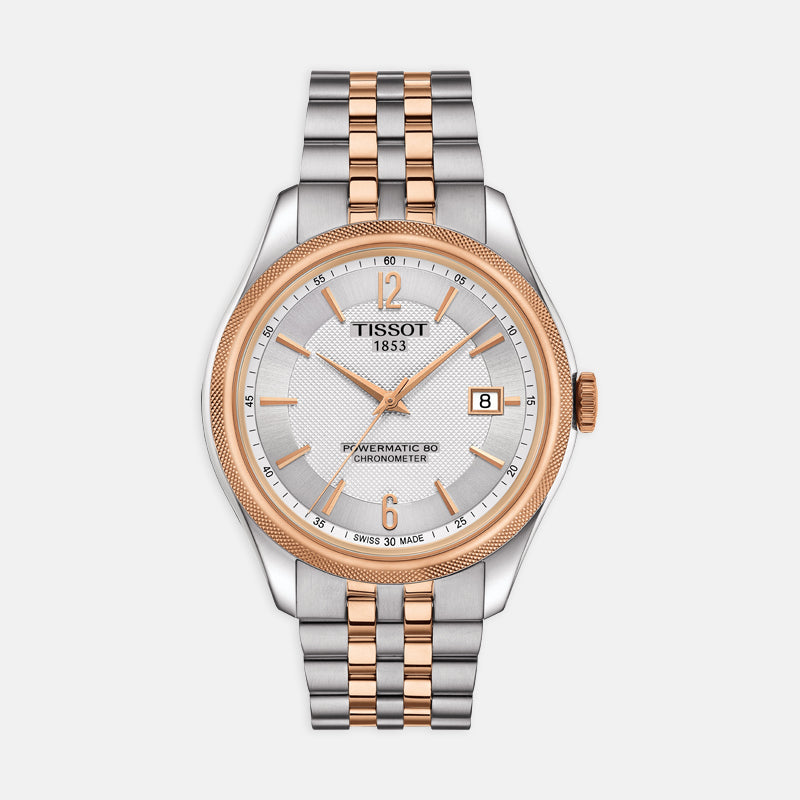 Tissot Ballade Powermatic 80 Cosc<br> 41mm Silver Dial<br> Steel and Rose Bracelet