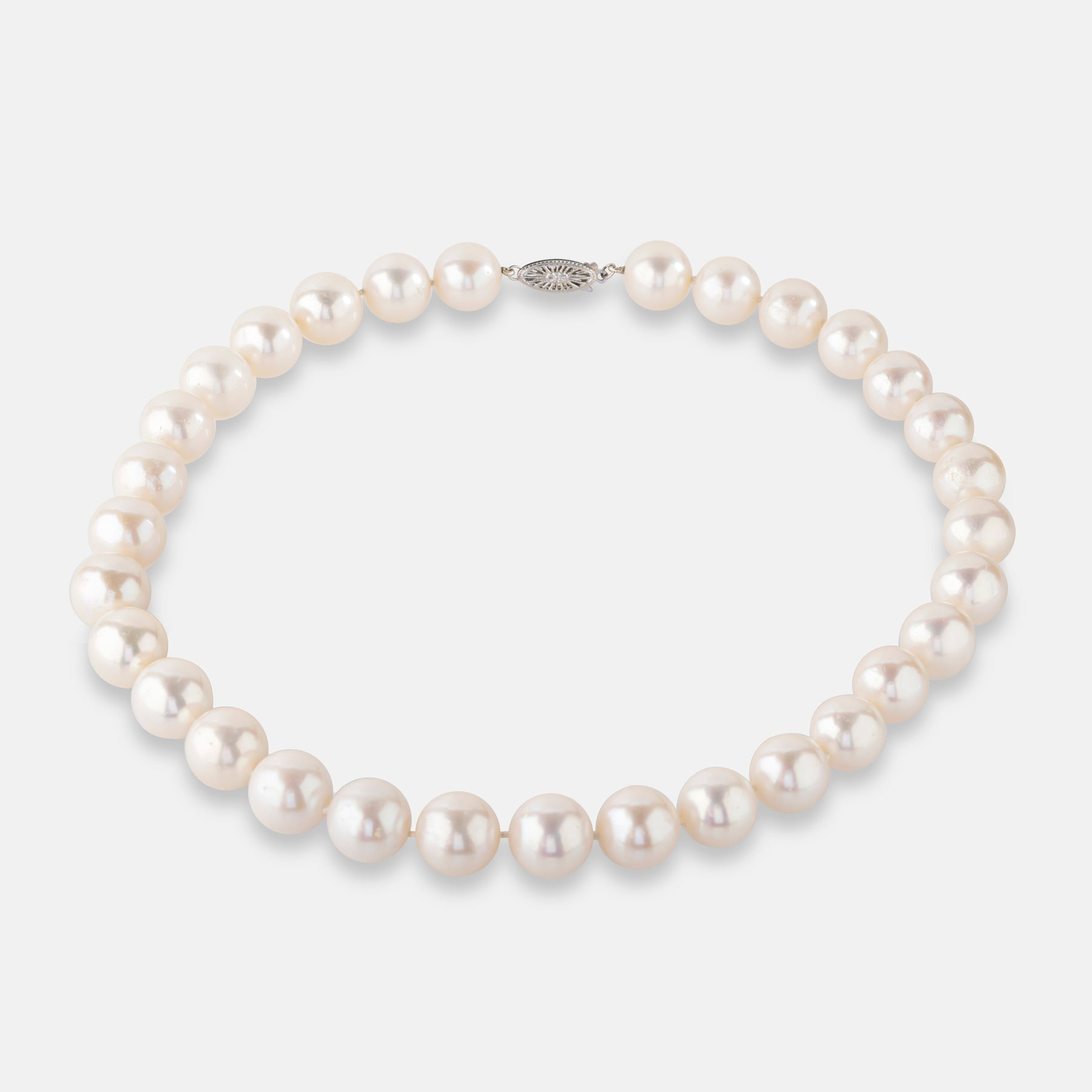 Freshwater Pearl Necklace,<br> 9ct Yellow Gold