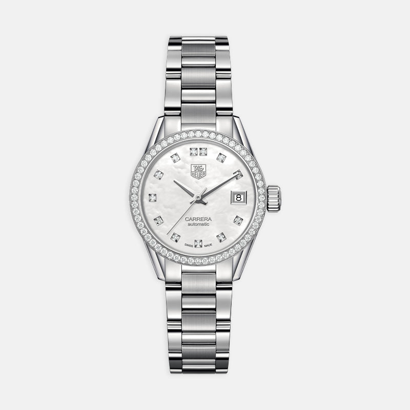 TAG Heuer Carrera<br> Automatic 28mm, Mother-of-Pearl Dial<br> Stainless Steel Bracelet