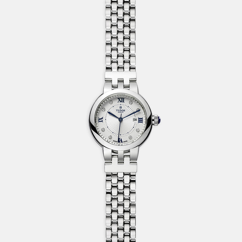 TUDOR Clair De Rose<br> 30mm Diamond-Set Dial<br> Stainless Steel Bracelet