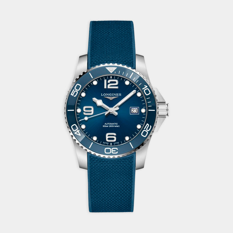 Longines Hydroconquest <br> 41mm Blue Dial<br> Rubber Strap