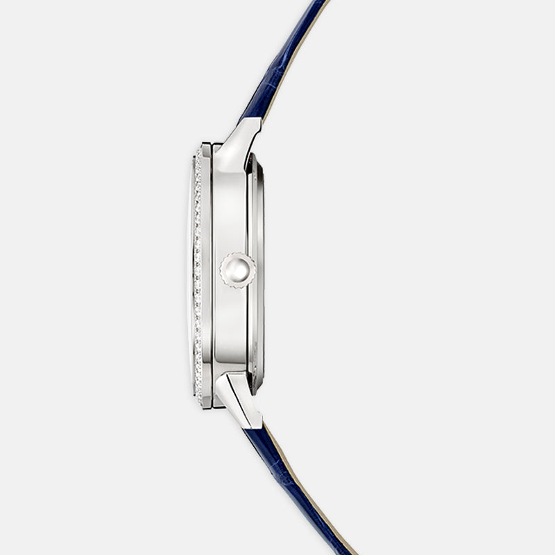 Jaeger-LeCoultre Rendez-Vous <br>  Night & Day Medium, Silver Dial<br>  Blue Leather Strap
