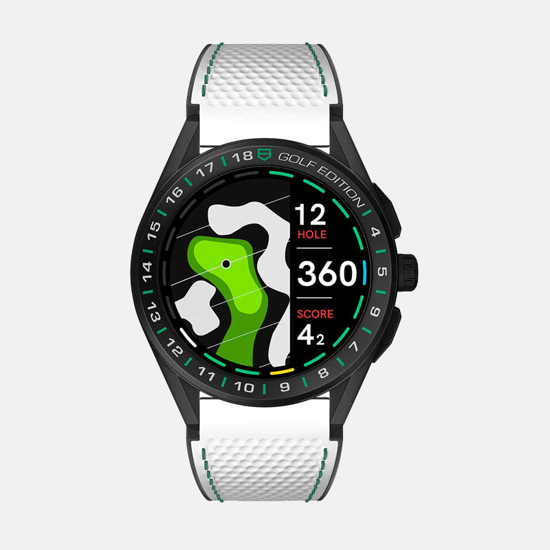Tag Heuer Connected Golf Edition<br> Titanium Case <br> White and green rubber strap