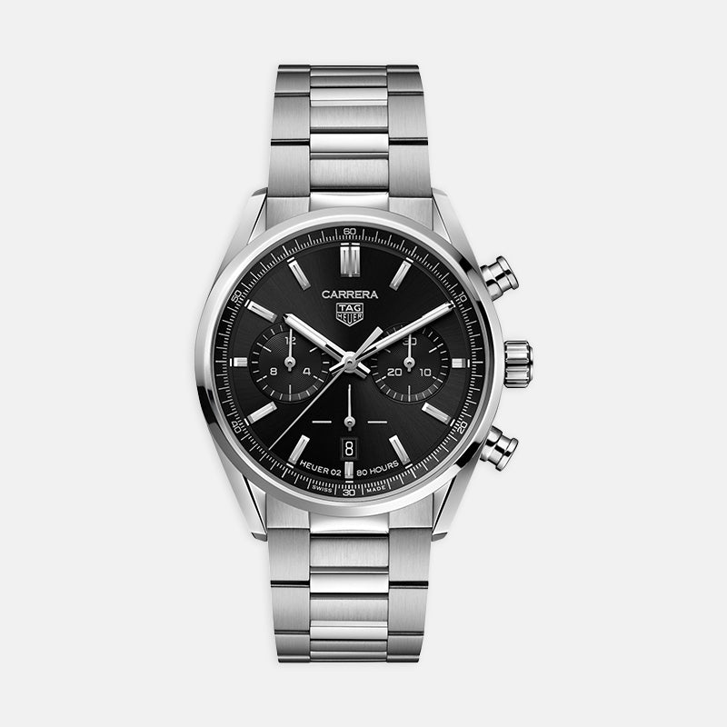 TAG Heuer Carrera<br> Black Dial 42mm<br> Stainless Steel Bracelet