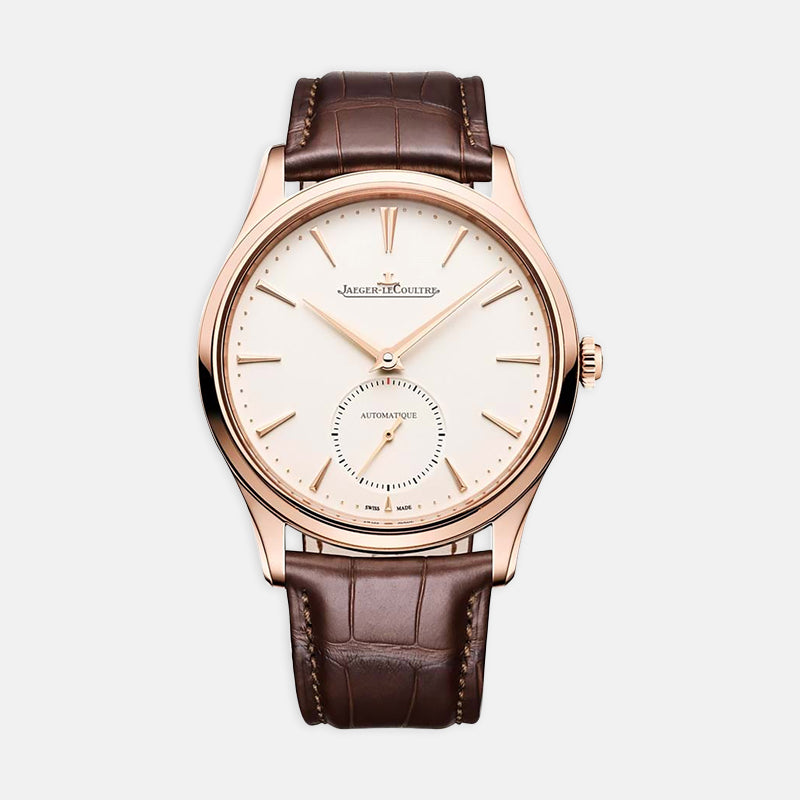 Jaeger-LeCoultre Master Ultra <br> Thin Small Seconds, 39mm <br> Brown Leather Strap