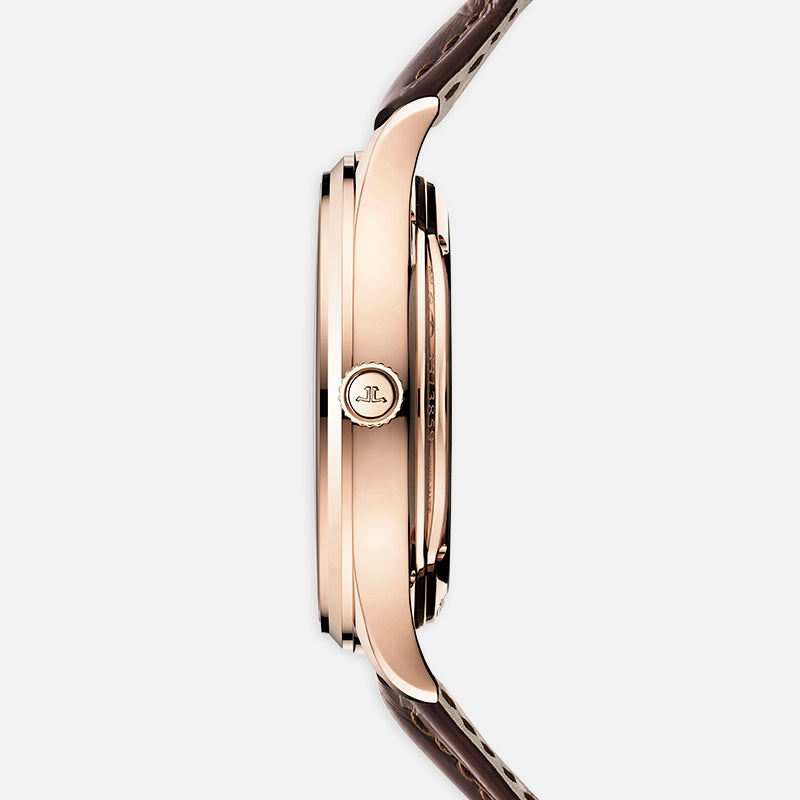 Jaeger-LeCoultre Master Ultra Thin Tourbillon<br> 40mm Eggshell Dial<br> Brown Leather Strap