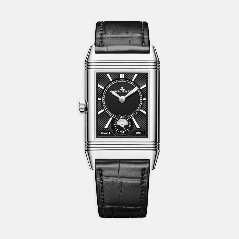 Jaeger-LeCoultre Reverso Classic Medium <br> Medium Duoface Small Seconds<br> Black Leather Strap