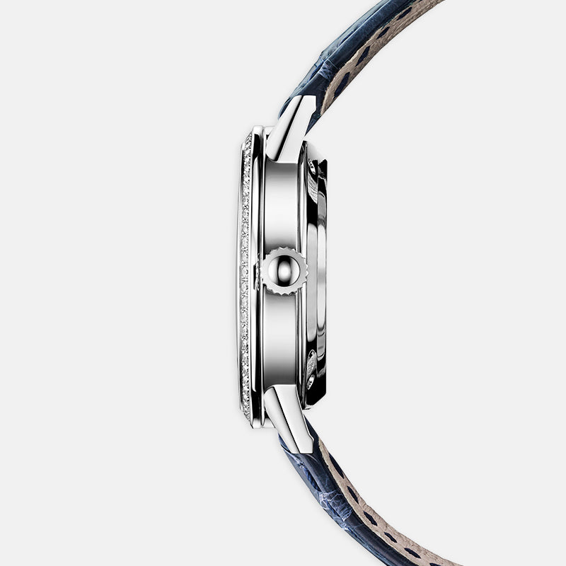 Jaeger-LeCoultre Rendez-Vous <br>  Night & Day Small, Blue Dial<br>  Blue Leather Strap