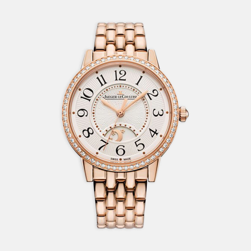 Jaeger-LeCoultre Rendez-Vous <br>  Night & Day Medium, Silver Dial<br>  18k Rose Gold Bracelet
