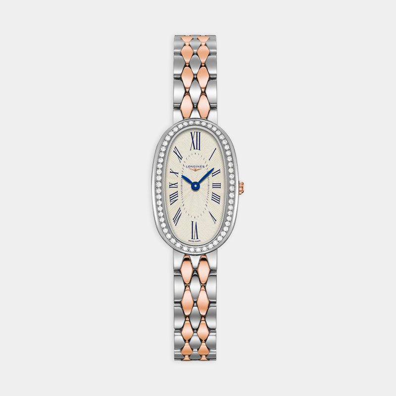 Longines Symphonette <br> 18.90mm Silver Dial <br> Stainless Steel Bracelet and 18k Rose Gold