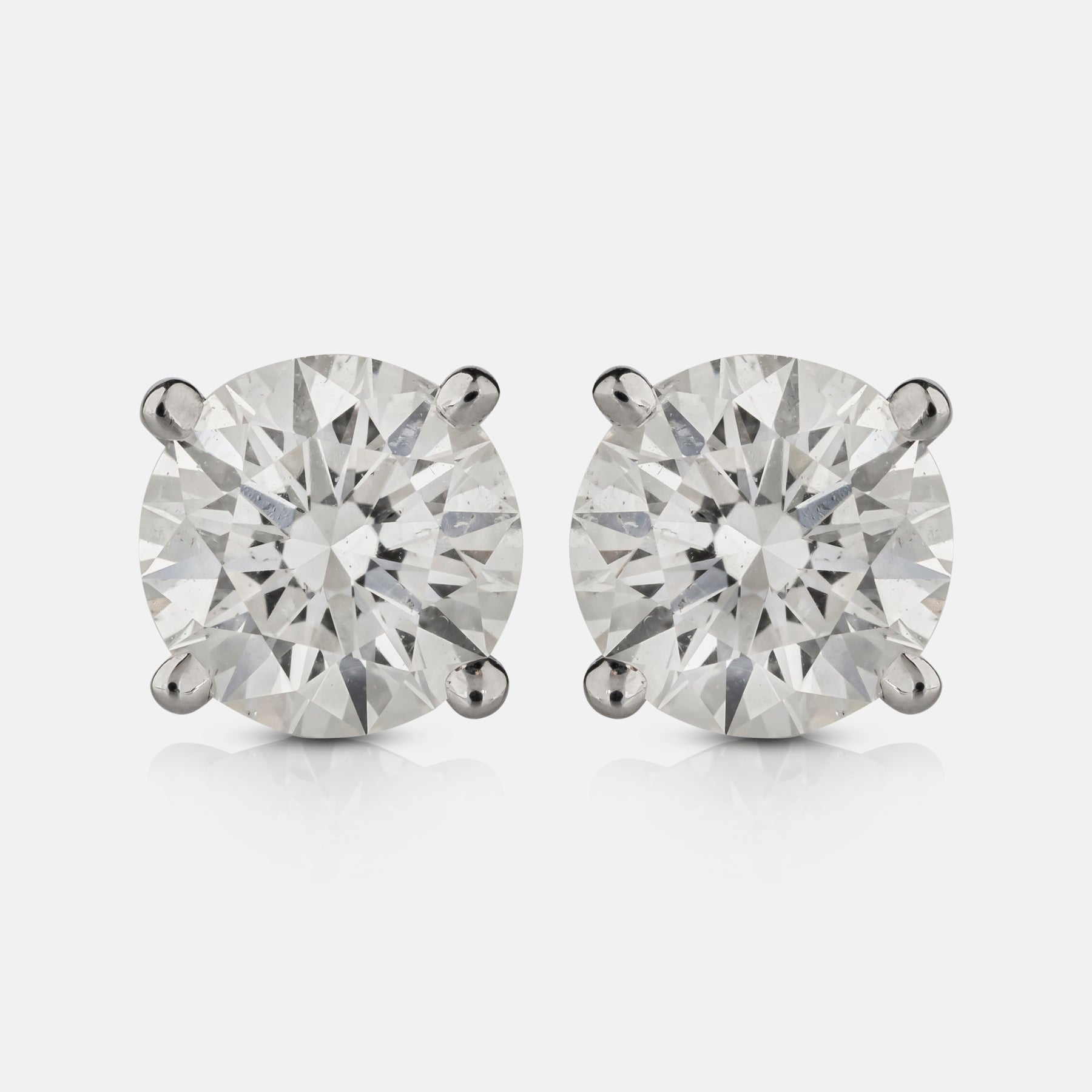 2.02ct Diamond Stud Earrings,<br>  18ct White Gold