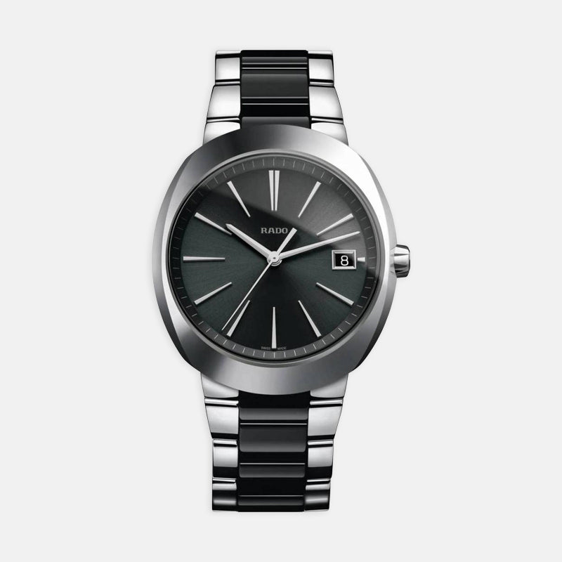 Men's Rado D-Star <br> Black Dial <br> Steel Bracelet