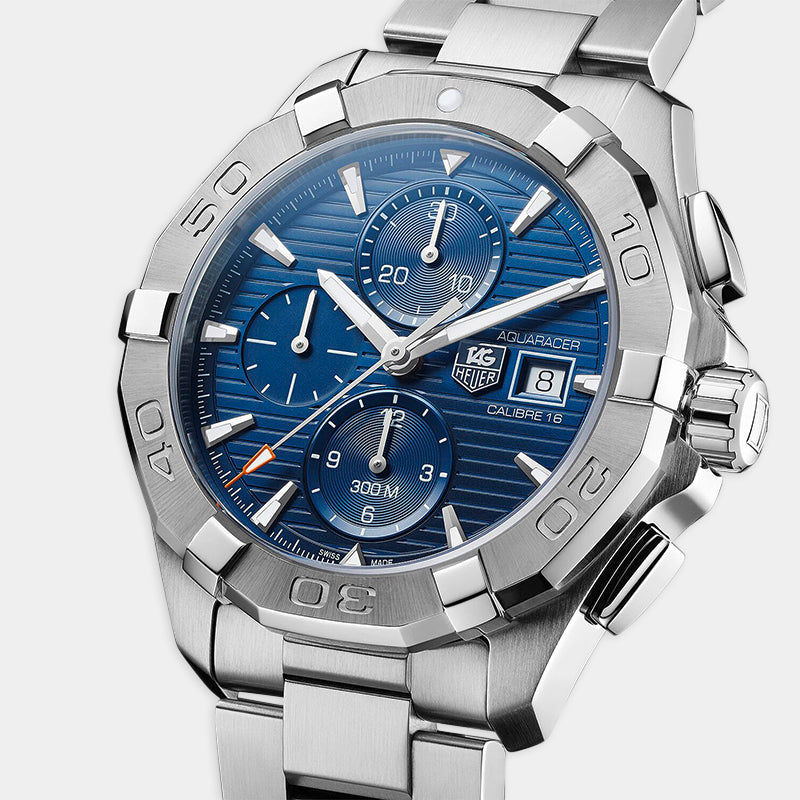 TAG Heuer Aquaracer<br> Automatic 43mm, Blue Dial<br> Stainless Steel Bracelet
