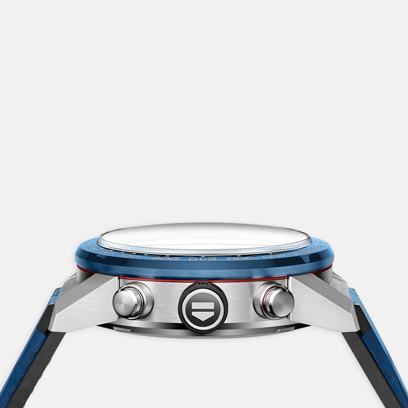 TAG Heuer Carrera<br> 43mm, Blue Dial<br> Blue Alligator Bracelet