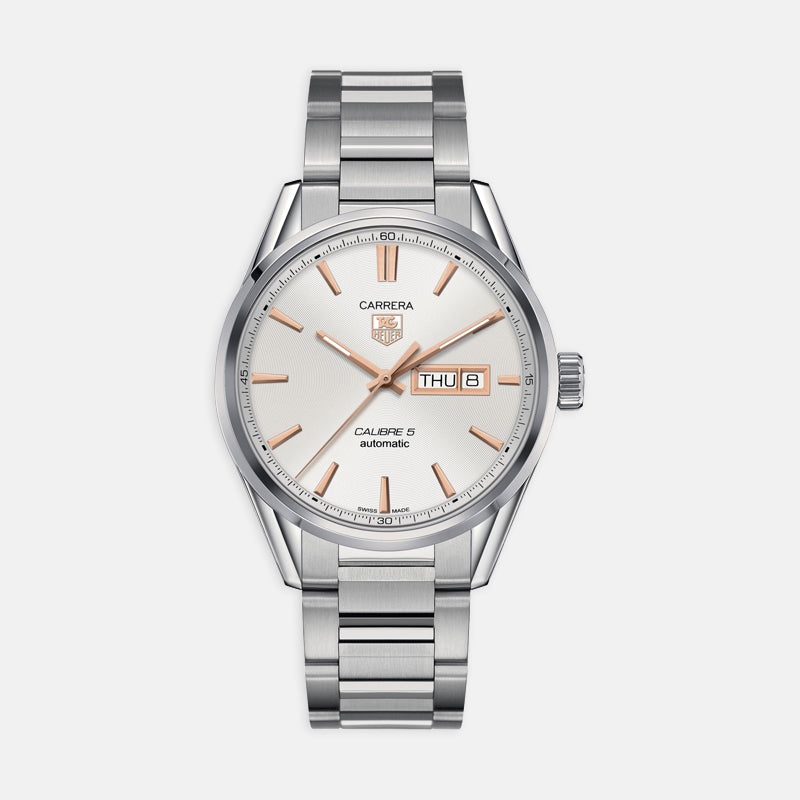 TAG Heuer Carrera<br> Automatic 41mm, Silver Dial <br> Stainless Steel Bracelet