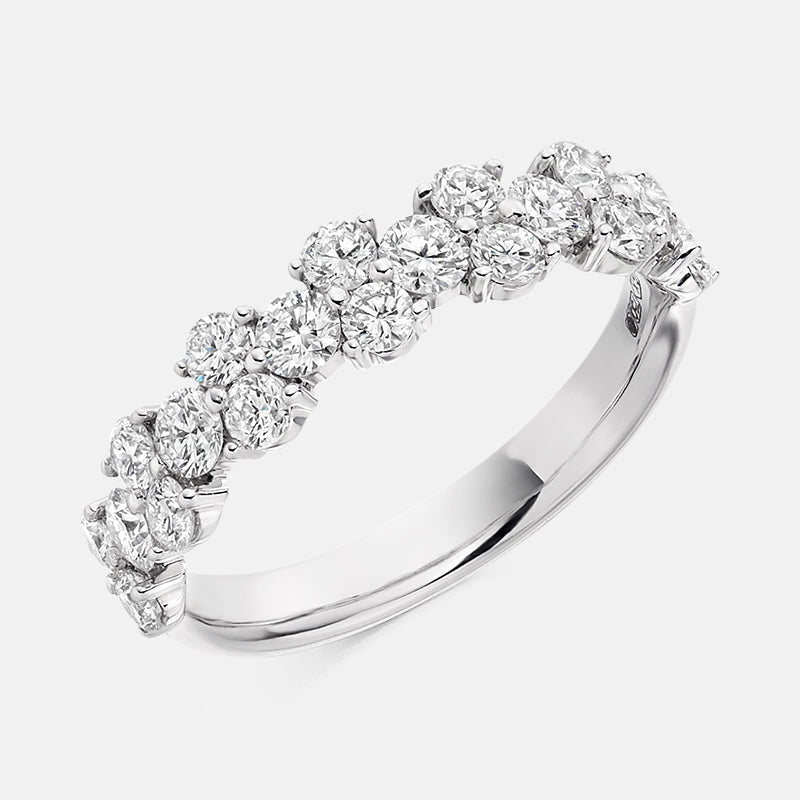 1.20ct Diamond,<br> Claw Set,<br> Platinum Wedding Ring