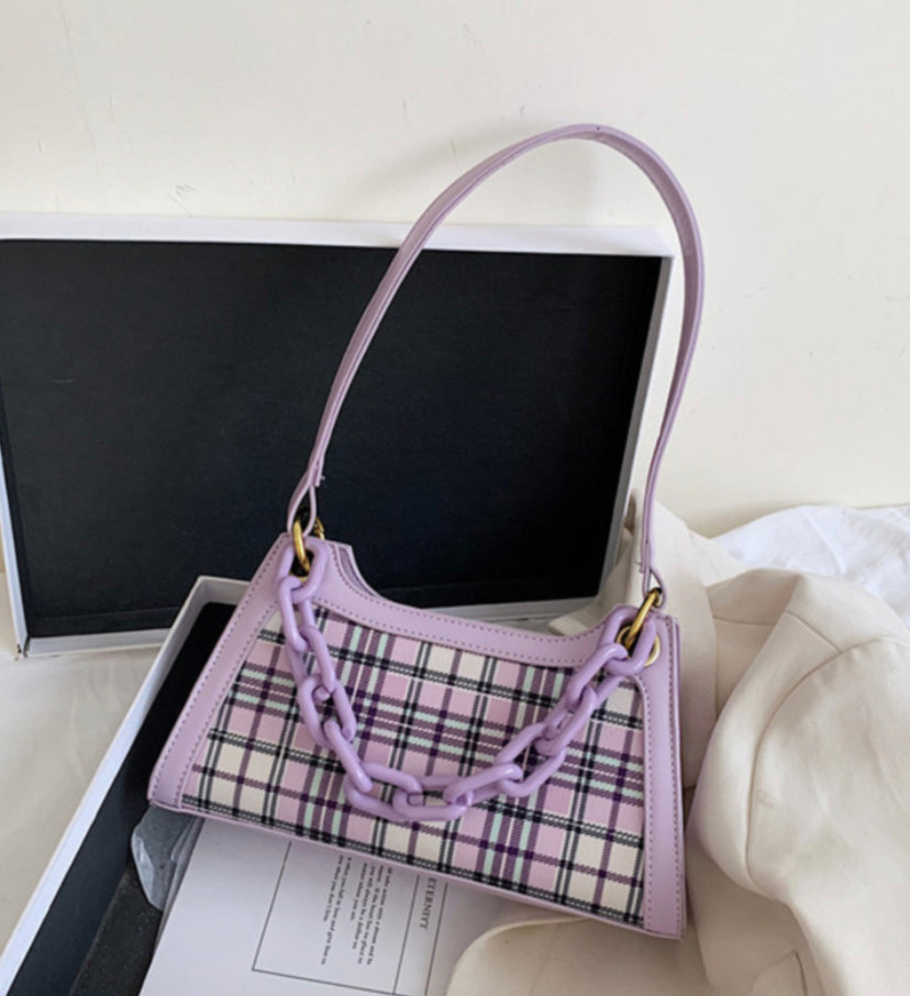 CLUELESS PLAID CHAIN BAG