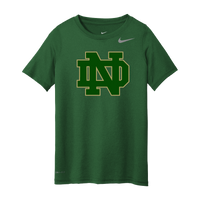 Notre Dame Nike Youth Green Legend Tee