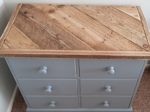 Pine Drawer Set With Custom Scaffold Top
