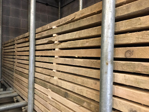 Scaffold Board Stacked For Drying