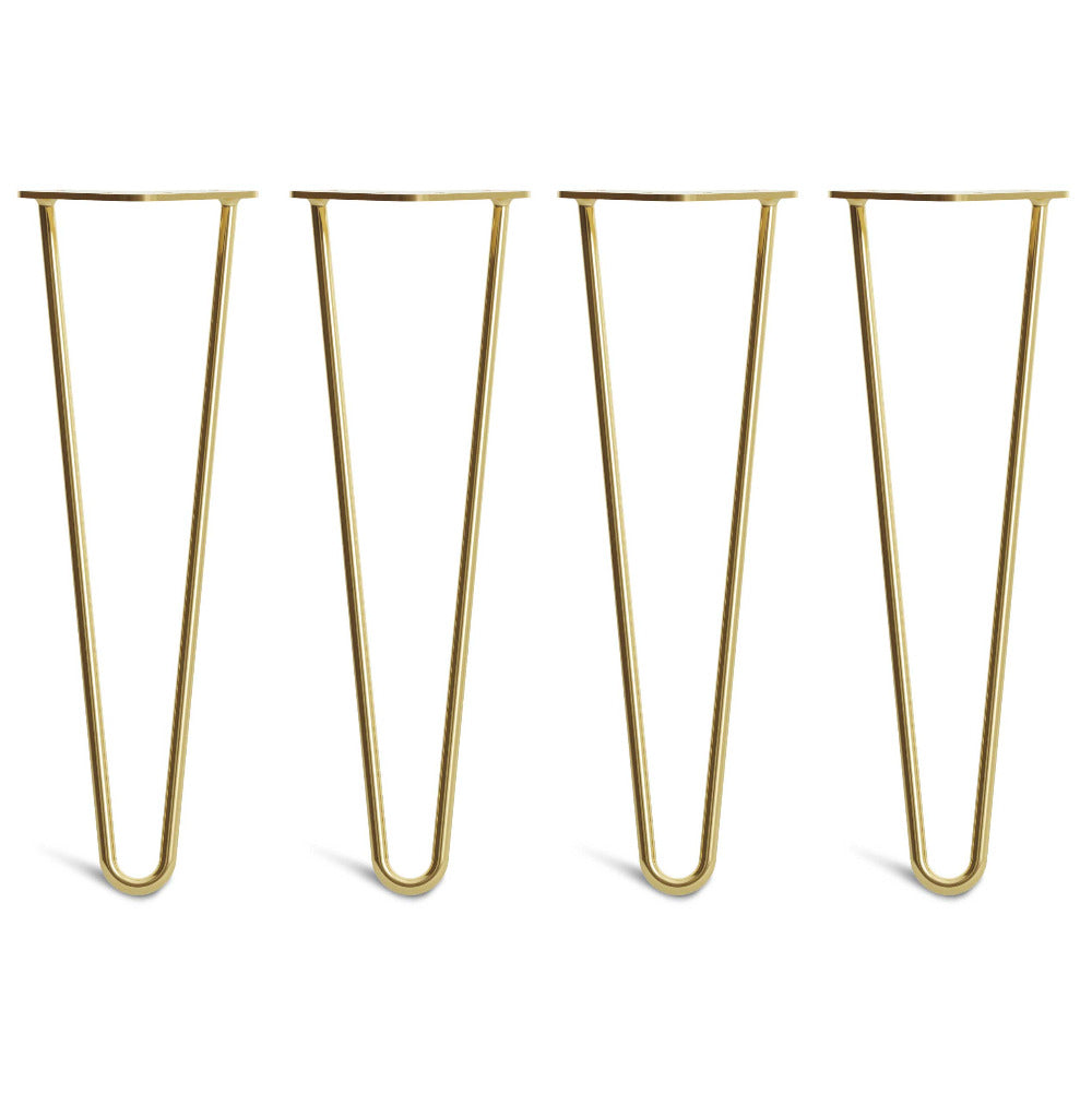 40cm 16inch hairpin legs in brass colour
