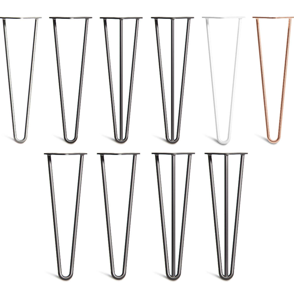 40cm 16inch hairpin legs in 2 rod or 3 rod designs