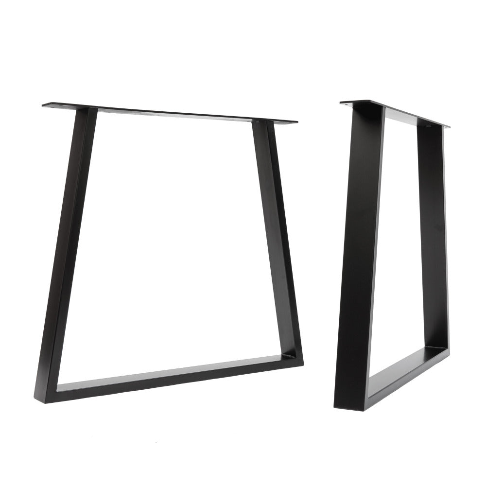 Chunky trapezium legs in black coated steel