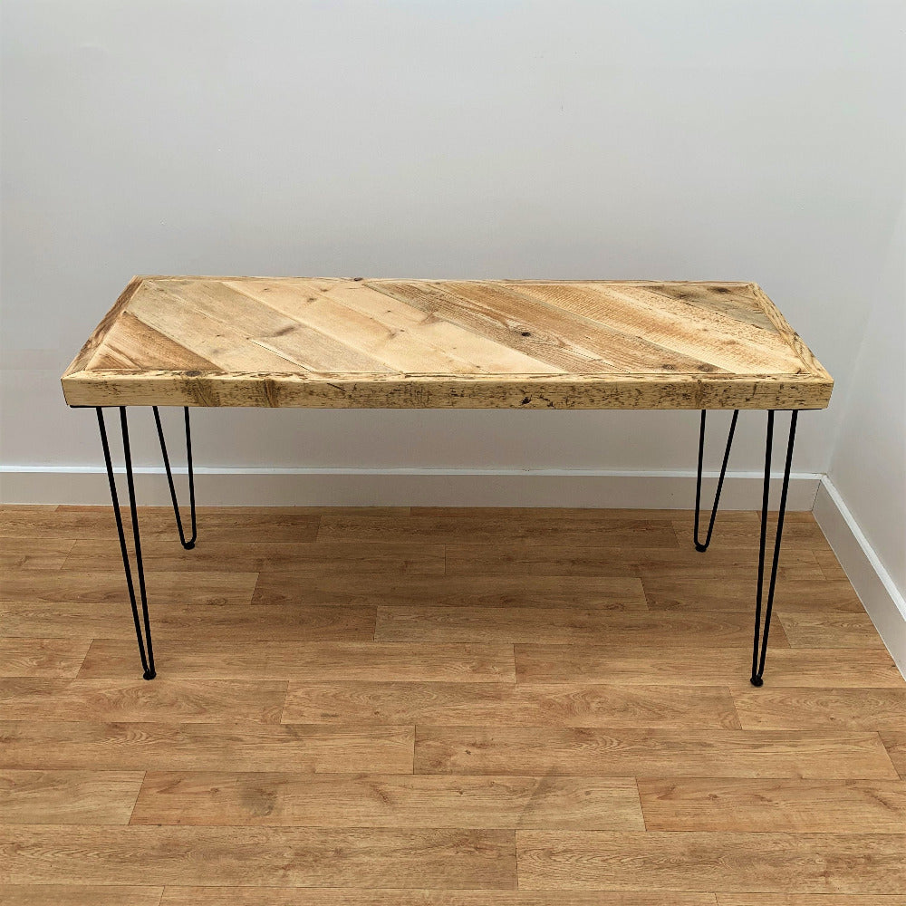 Coffee Table with black hairpin legs