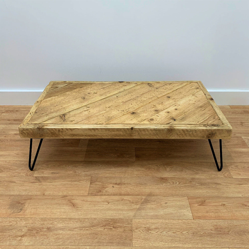 Scaffold Board Coffee Table with Hairpin Legs