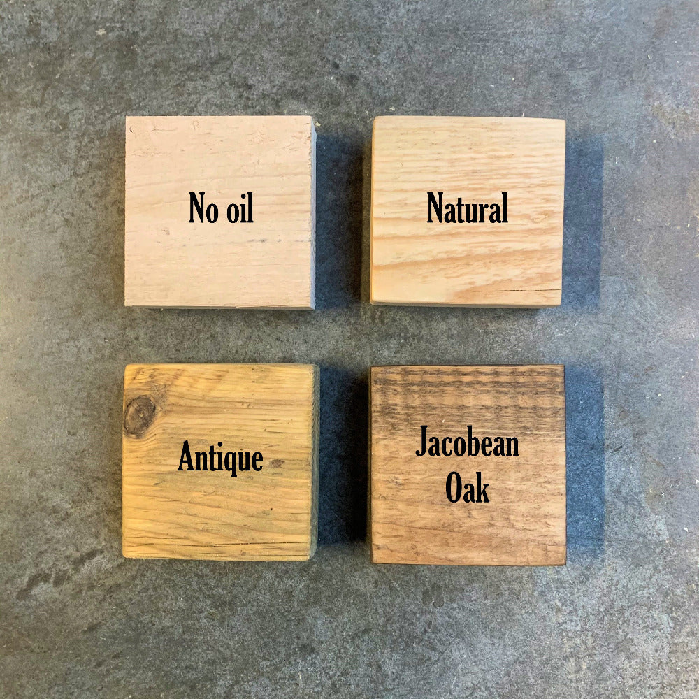 Oil options for new pallet wood, sanded, in danish oil