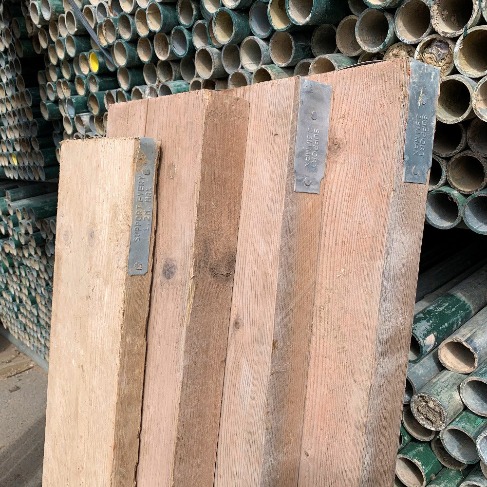 Chunky scaffold boards compared to standard scaffold boards