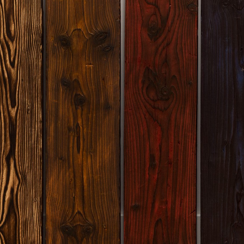 New Scaffold Boards Stained in Red, Blue, or Amber dyes