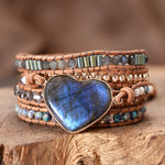 Handcrafted sparkling heart shaped moonstones