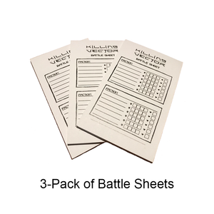 Killing Vector Battle Sheets Refill (3-Pack)