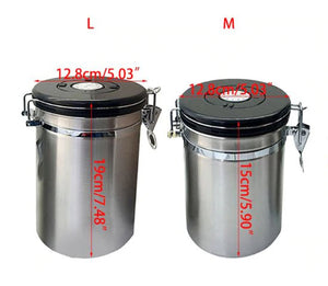 Coffee Gator Stainless Steel Container - Fresher Beans and Grounds