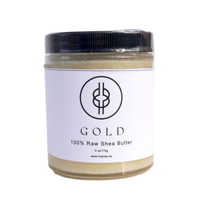 GOLD - 100% Raw Unwhipped Shea Butter from Ghana | HOLY RAW