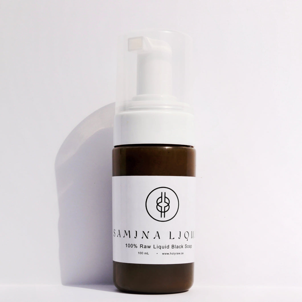SAMINA | LIQUID - Liquid Black Soap  | Holy Raw