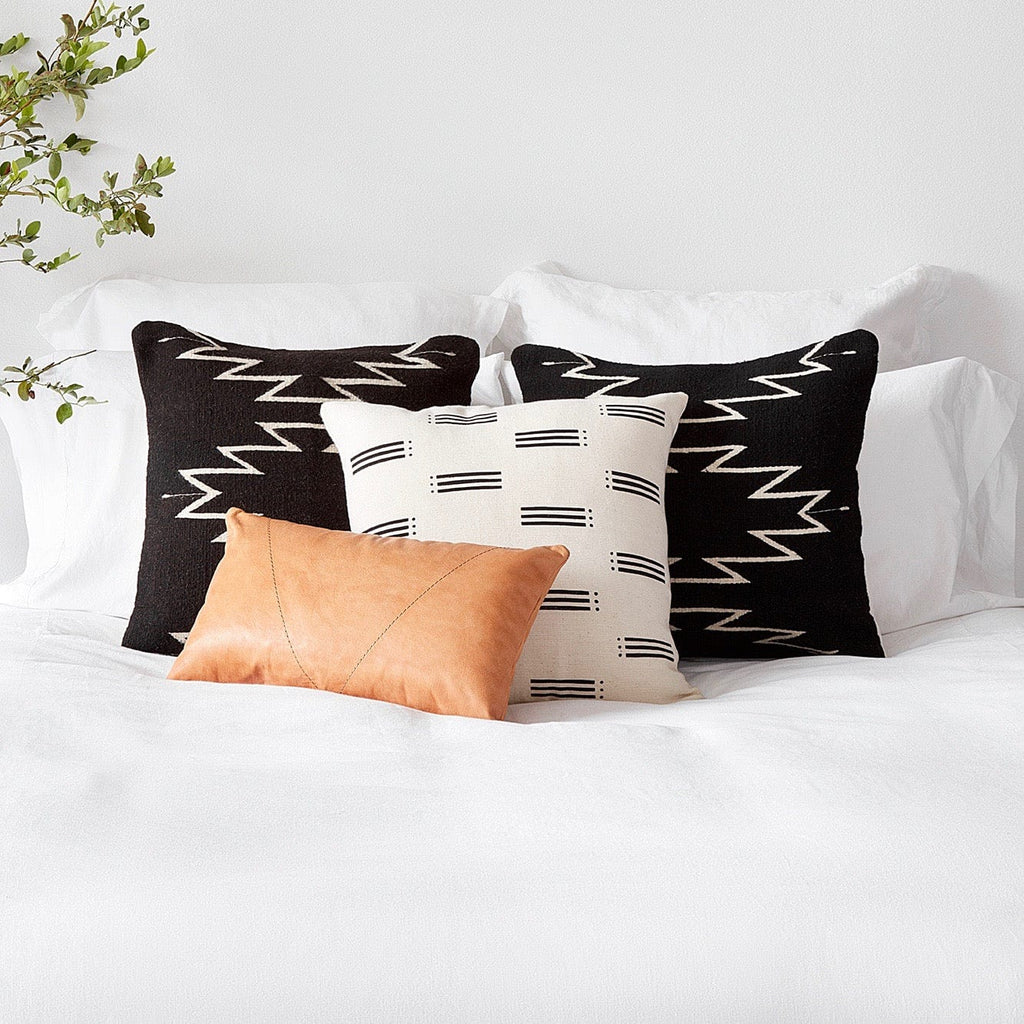 Leather Lumbar Pillow Handcrafted In Argentina The