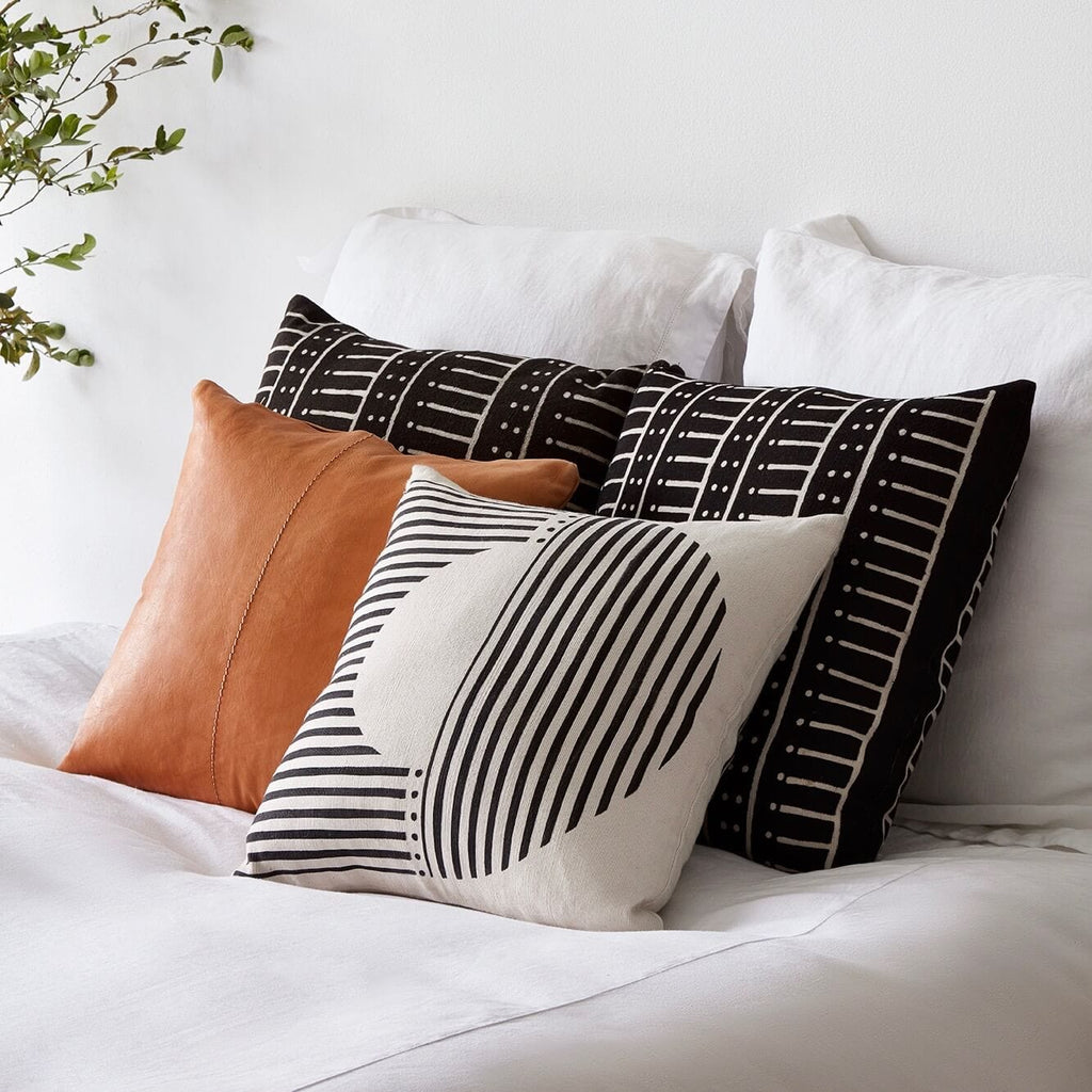 African Mud Cloth Pillows Black Amp White Reversible