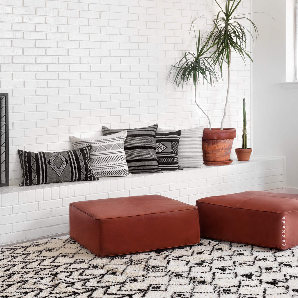 Riad Leather Floor Pillow