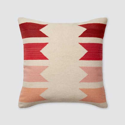 pillow coral lumbar pier embroidered imports