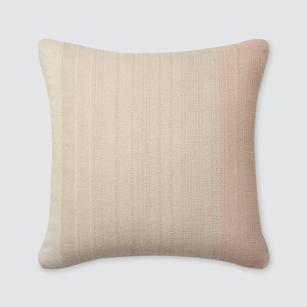 Ombre Throw Pillow in Peach | 19% Alpaca – The Citizenry