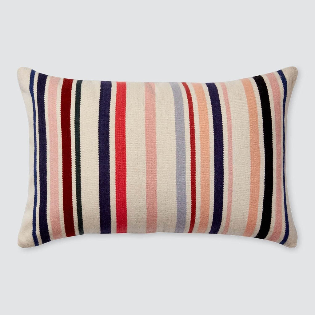 Decorative Lumbar Pillow Multicolor Stripes The Citizenry