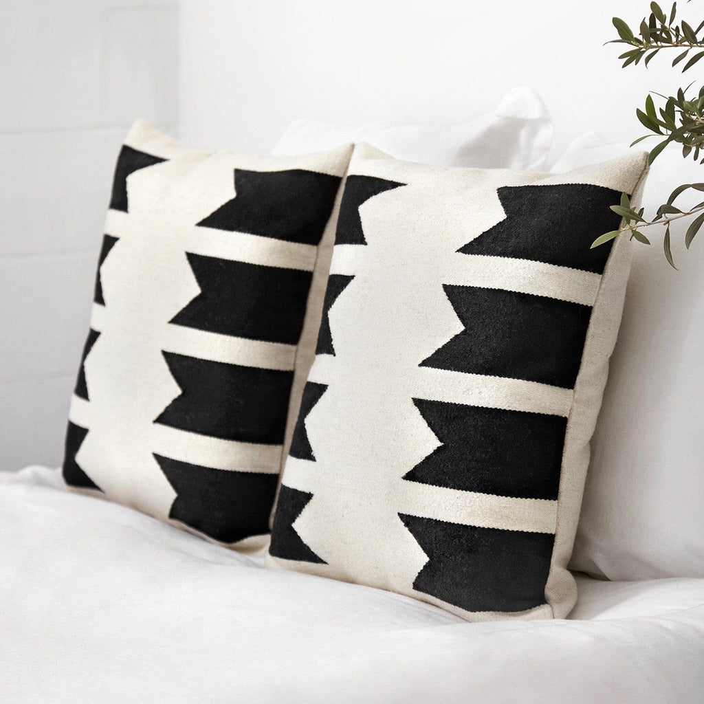 Modern Throw Pillows - Black & White | Handmade in Peru – The Citizenry