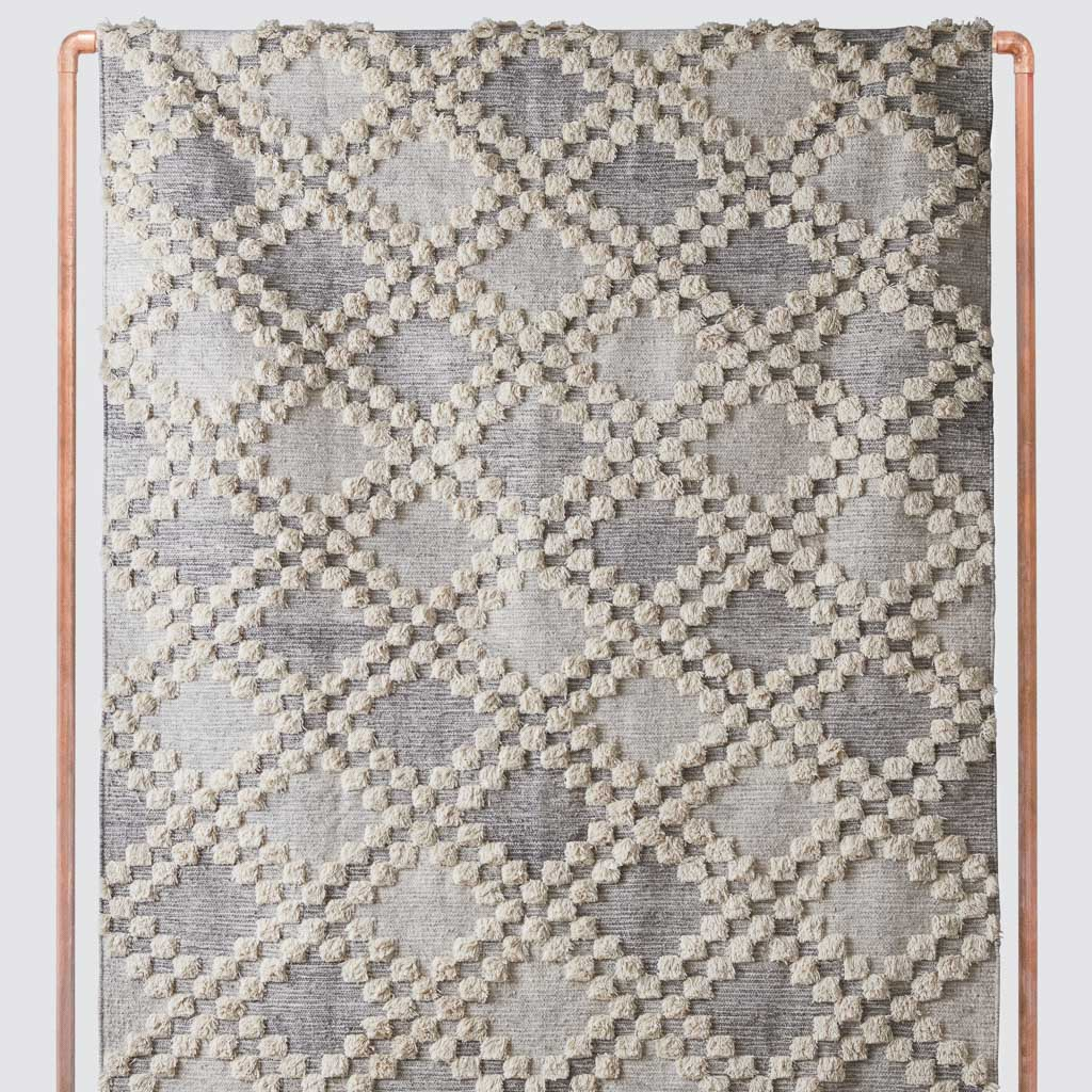 Akshay Area Rug Grey Area Rug With Textured Pattern At The Citizenry