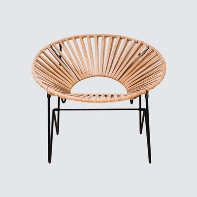 Modern Acapulco Chair in Natural Leather